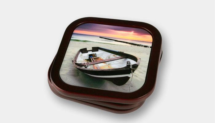 Mahogany Coasters